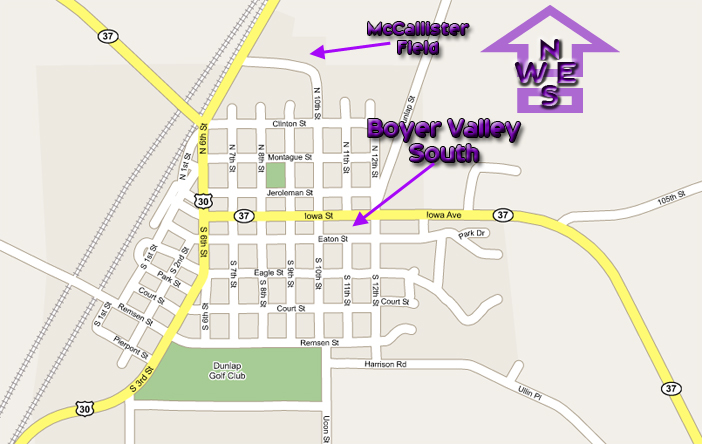 map to BV South